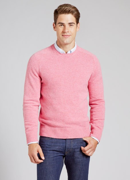 dbe59656a7c Lyst bonobos sweater in pink for men jpeg 454x627 Pink sweater men