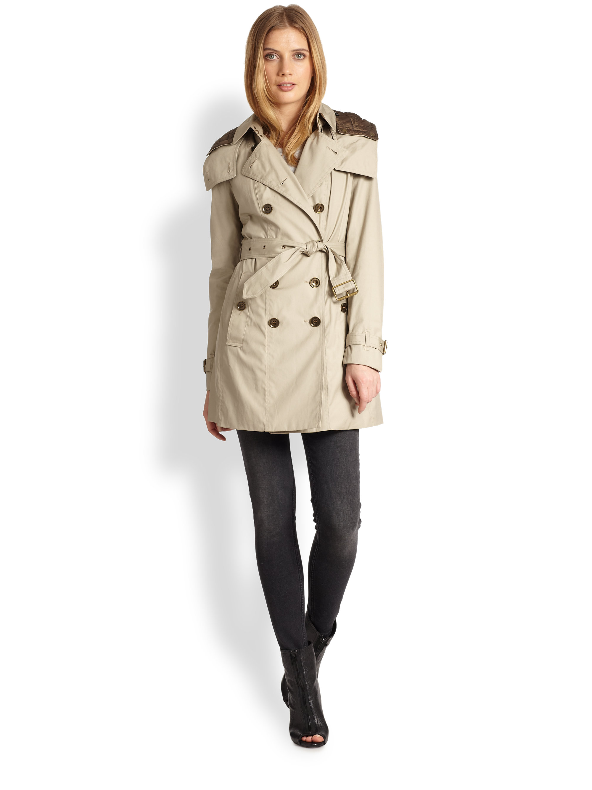 Lyst Burberry Reymoore Trench Coat In Natural