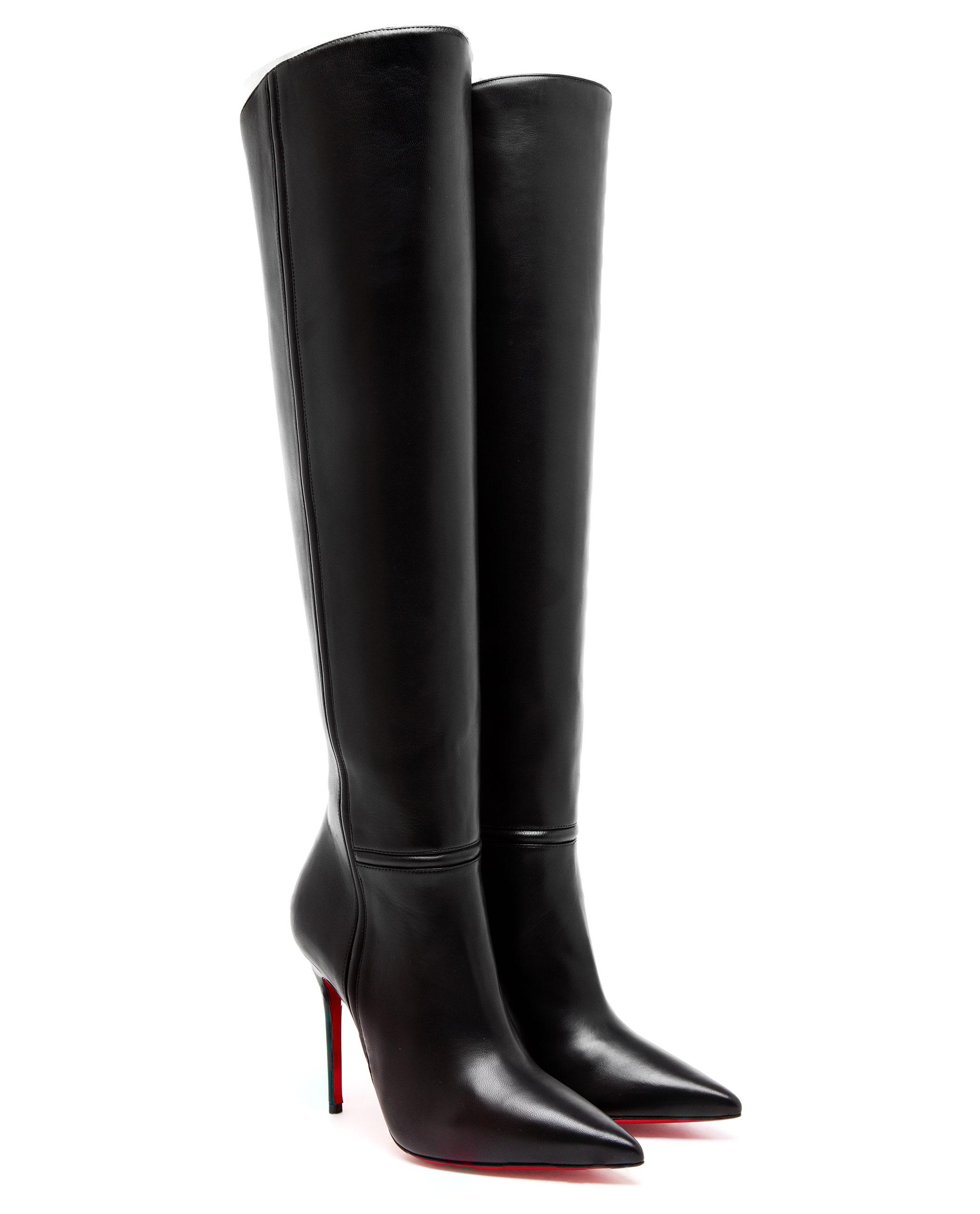 christian louboutin armurabotta leather kneehigh boots in