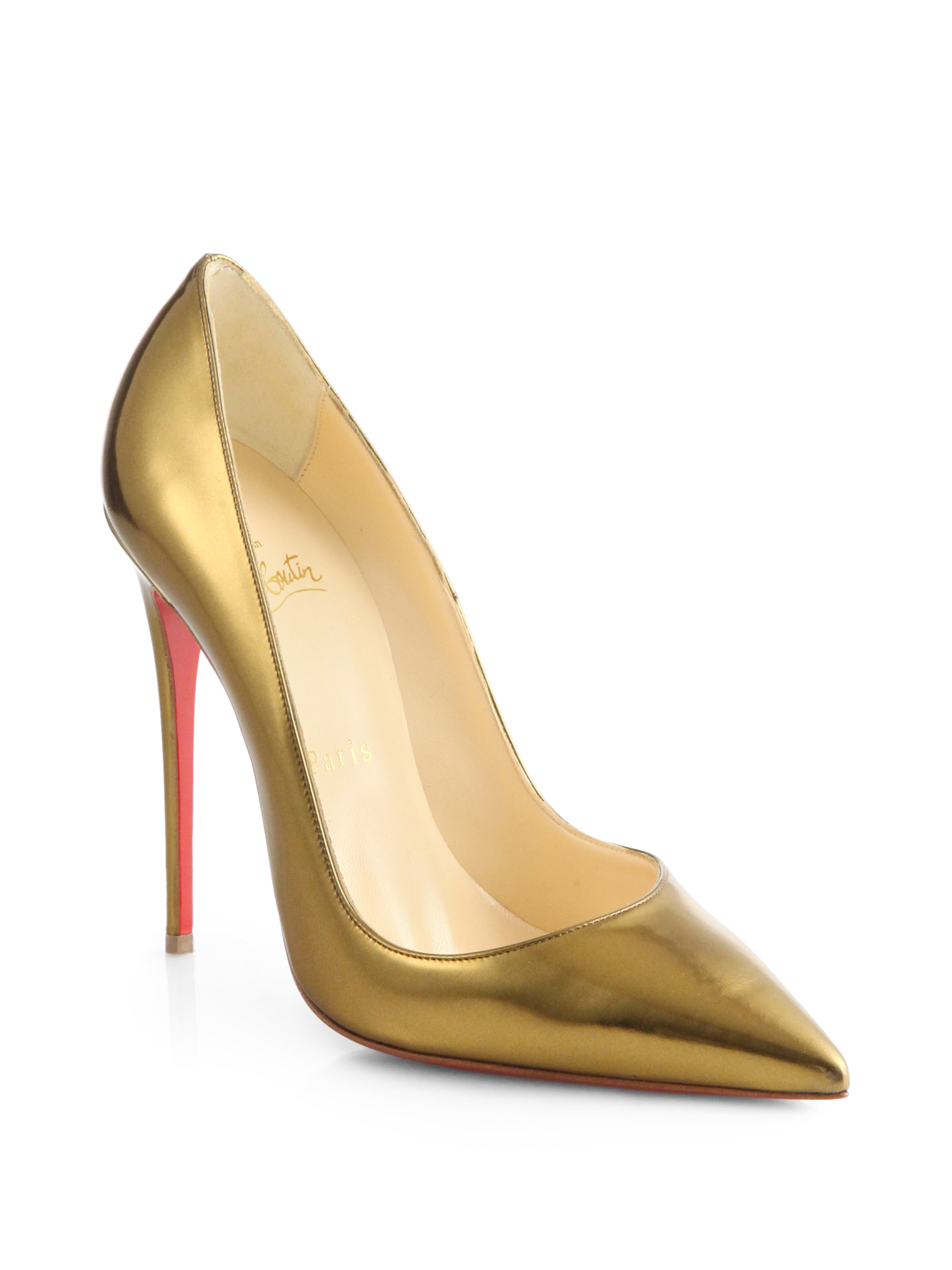 d307ac96f5b2 Christian louboutin So Kate Specchio Leather Pumps in Metallic