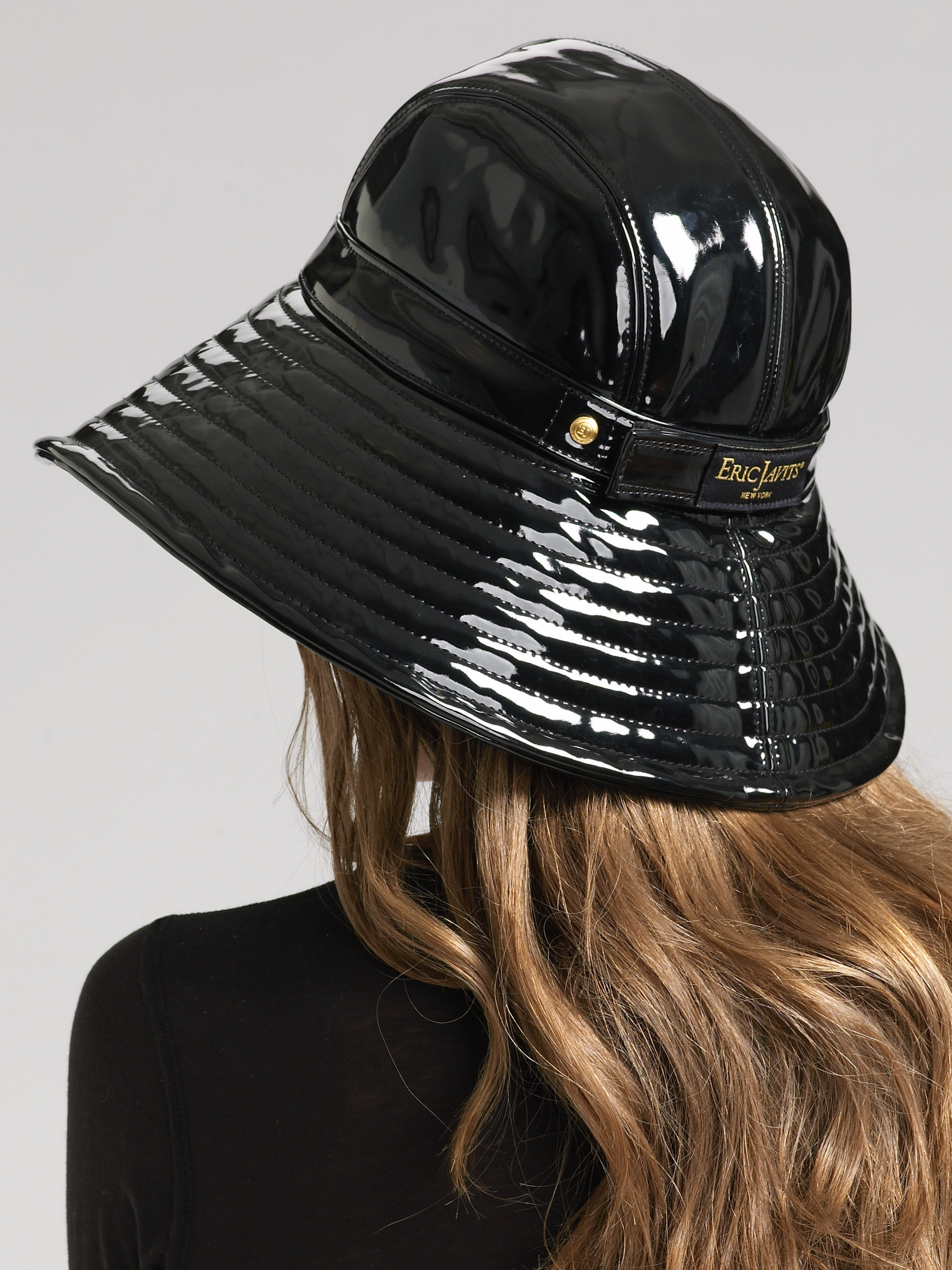 44c45efdccd Lyst - Eric Javits Patent Rain Hat in Black