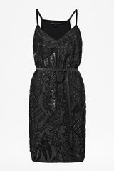 French Connection Forest Fern Strappy Embellished Dress - Lyst