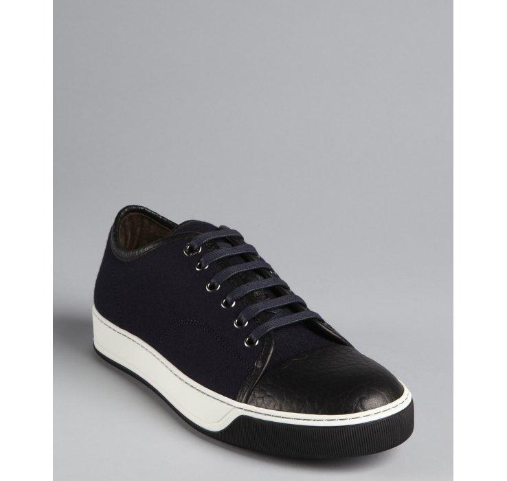 Lanvin Sneakers Plafonnés Orteil - Noir UIdL2