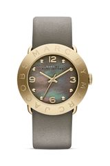 Marc By Marc Jacobs Leather Strap Watch - Lyst