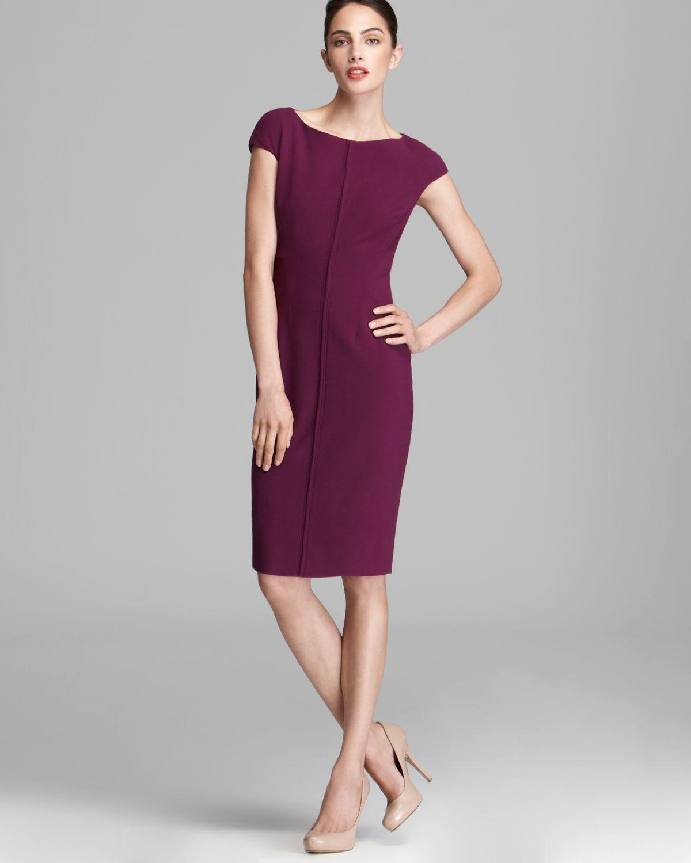 max mara studio lison dress with seam detail in red plum. Black Bedroom Furniture Sets. Home Design Ideas
