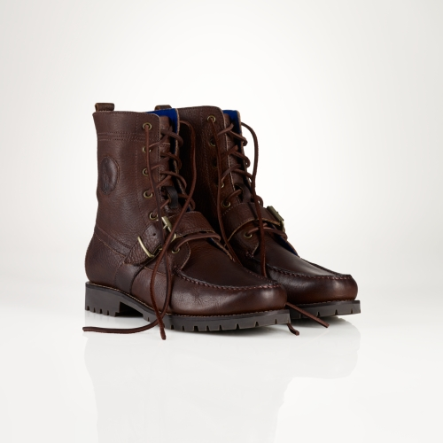 Polo Ralph Lauren Ranger Leather Boot In Brown For Men