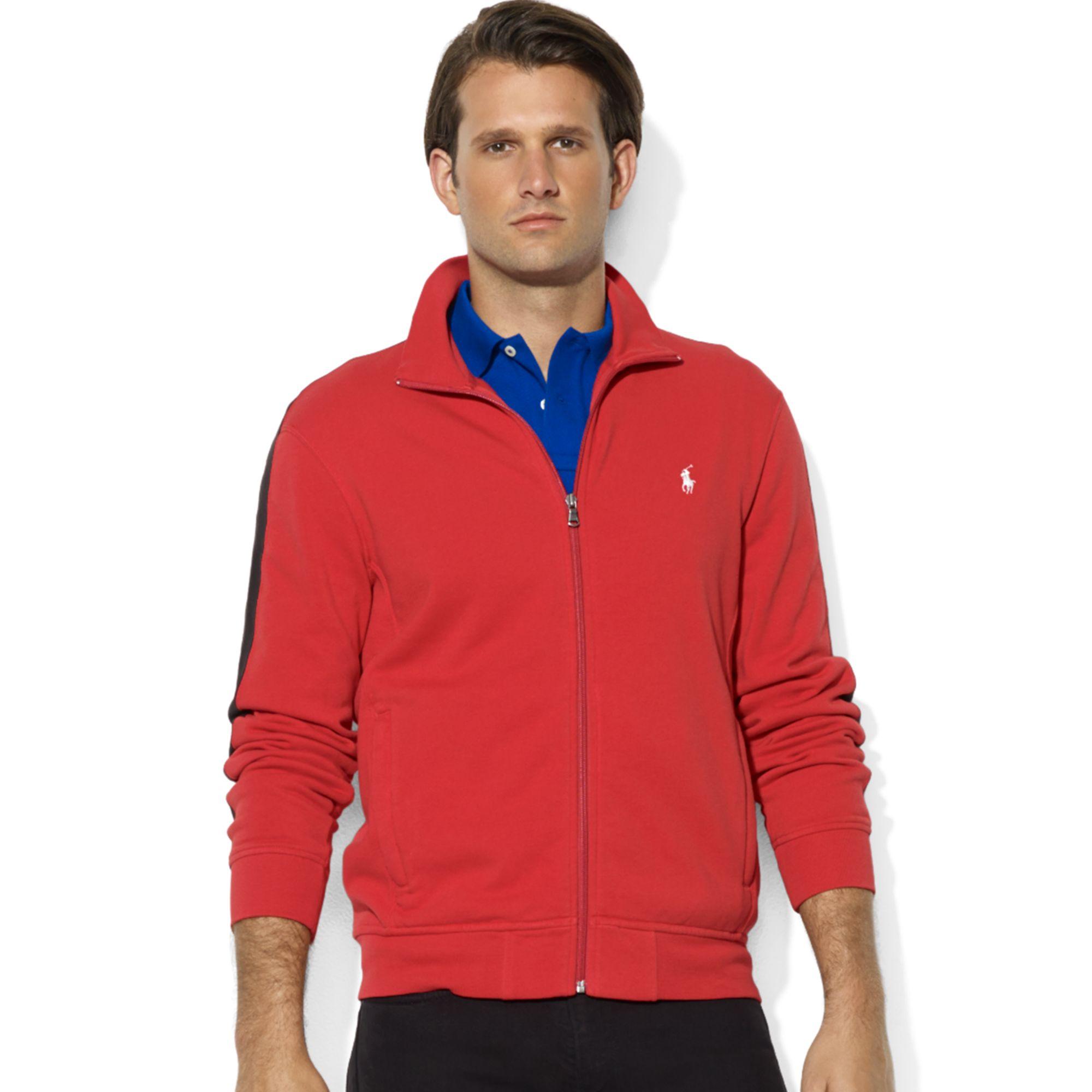 Ralph lauren Zip-front Mock Neck Fleece Jacket in Gray for
