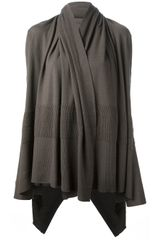 Rick Owens Hooded Wrap Cardigan - Lyst