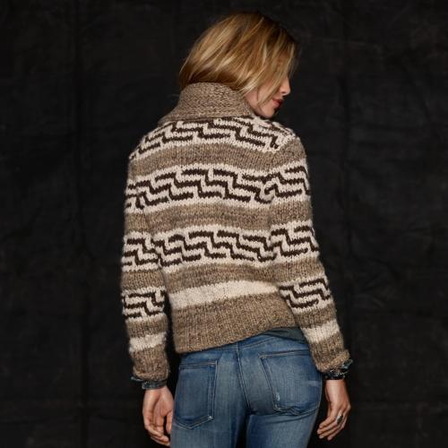 Lyst - Rrl Wool Shawlcollar Cardigan in Brown for Men