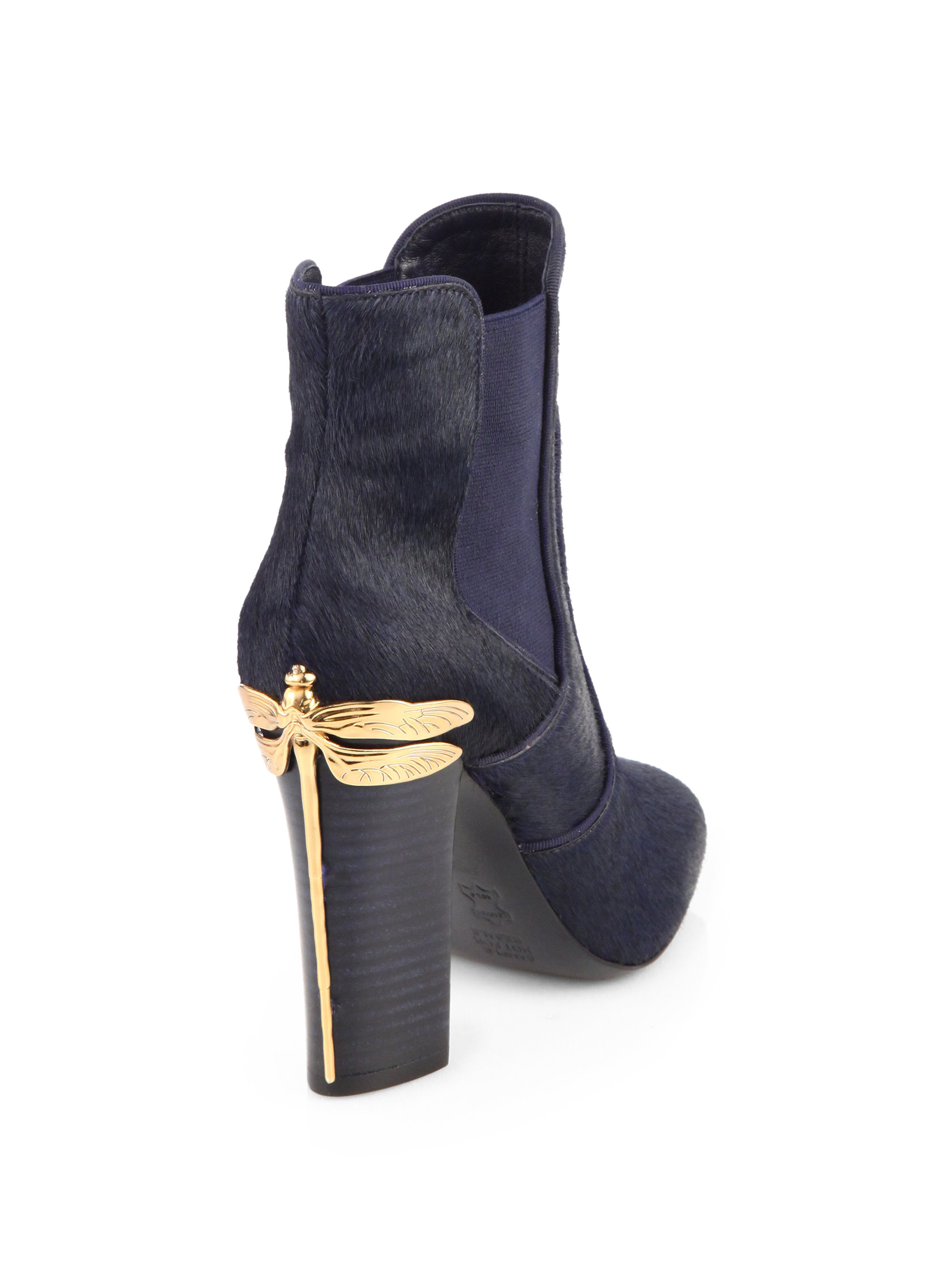 8c37731d5d7 Lyst - Tory Burch Theodora Calf Hair Ankle Boots in Blue