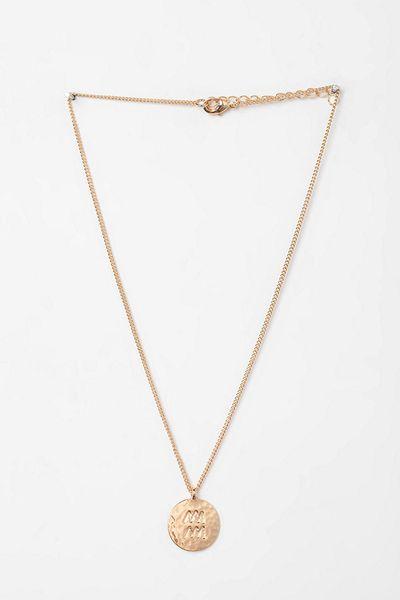 Urban Outfitters Rhinestone Zodiac Necklace in Gold (AQUARIUS) | Lyst