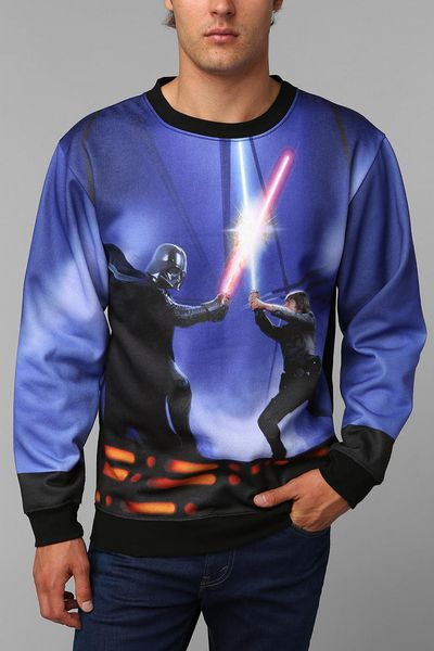urban outfitters star wars fight pullover sweatshirt in multicolor for men assorted lyst. Black Bedroom Furniture Sets. Home Design Ideas