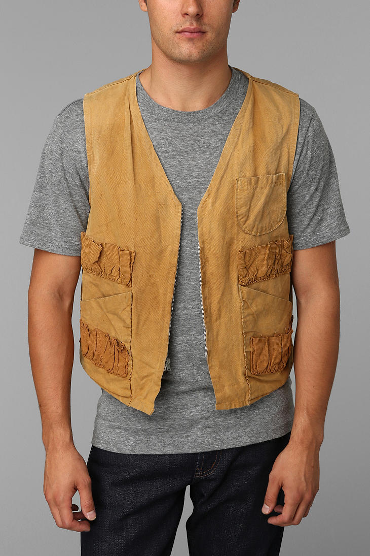 8f9e371169a18 Urban Outfitters Urban Renewal Vintage Hunting Vest in Brown for Men ...