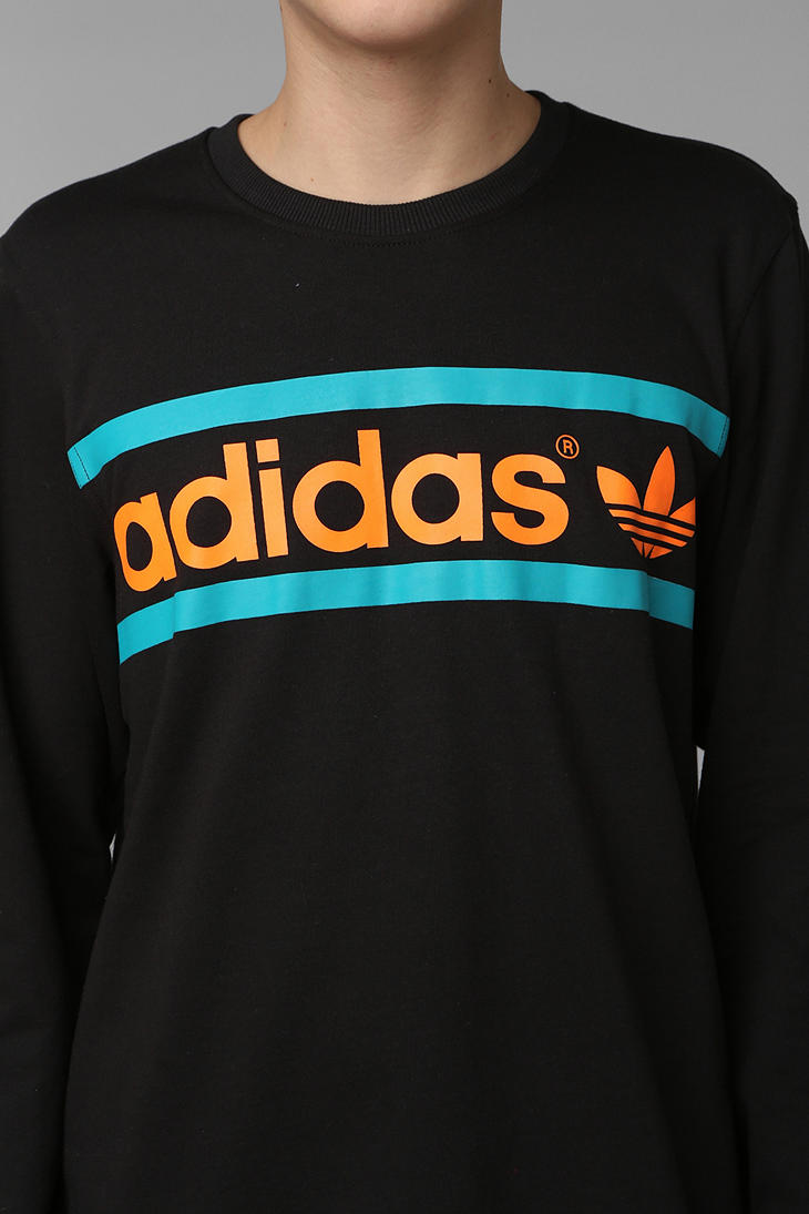 Lyst Heritage Sweatshirt In Urban Logo Outfitters Adidas Black Men For pq1pw