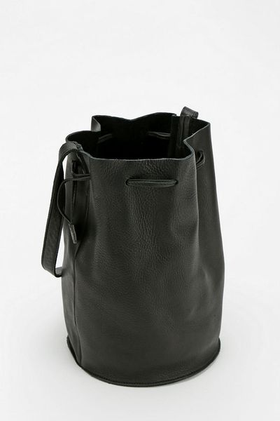 Urban Outfitters Baggu Leather Drawstring Bucket Bag In