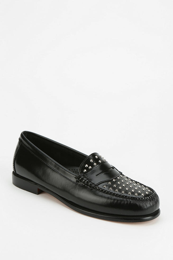 53bdab88a65 Lyst - Urban Outfitters Bass Wayfarer Studded Loafer in Black