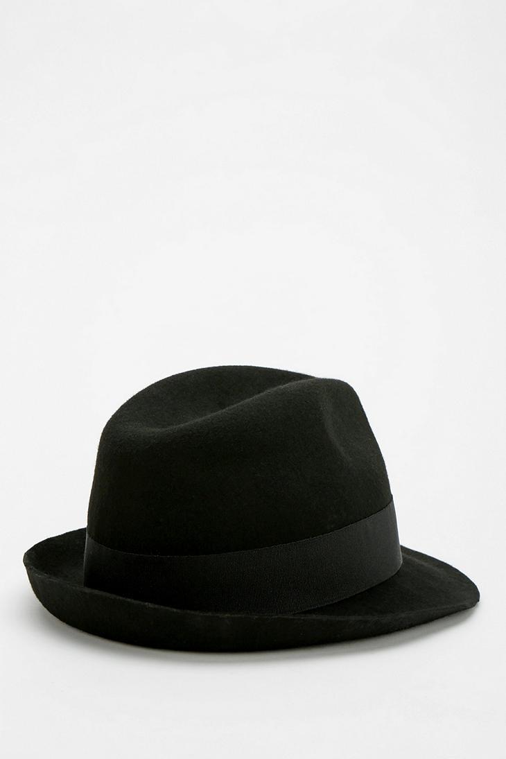 bec7c1699cb54 Urban Outfitters Bdg Felt Fedora Hat in Black - Lyst