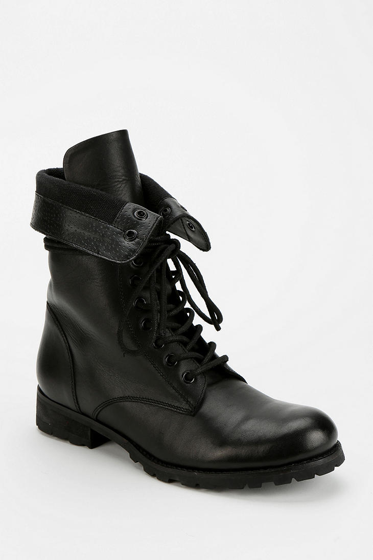 Lyst Urban Outfitters Deena Ozzy Foldover Combat Boot In