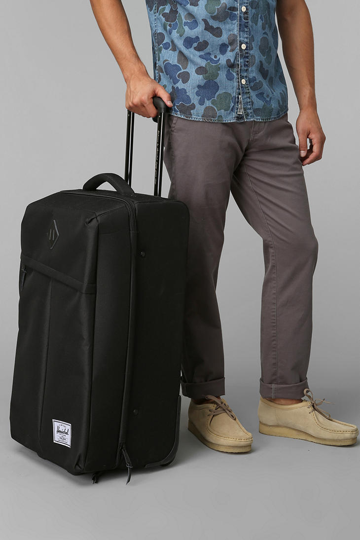 38931c01d0d Lyst - Urban Outfitters Herschel Supply Co Parcel Suitcase in Black ...