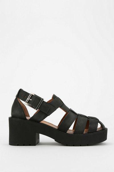 Urban Outfitters Argo Platform Sandal In Black Lyst
