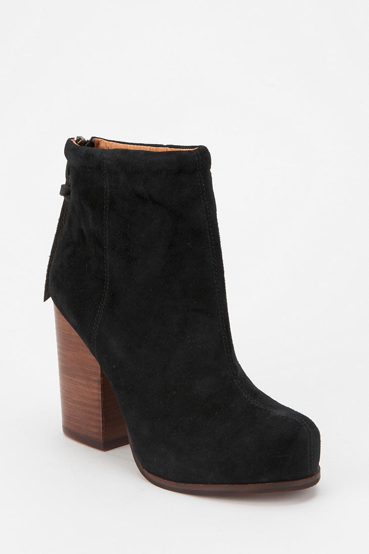Jeffrey Campbell Suede Rumble Boot In Black Lyst
