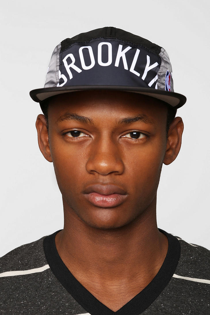 aea72cab8c0 Lyst - Urban Outfitters Mitchell Ness Brooklyn Nets Worldmark 5panel ...