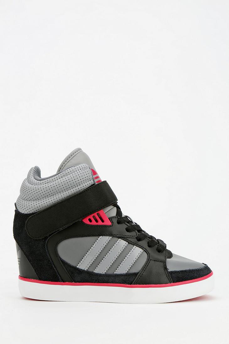 Lyst - Urban Outfitters Adidas Amberlight Hidden Wedge Hightop ... dfe4d16e5