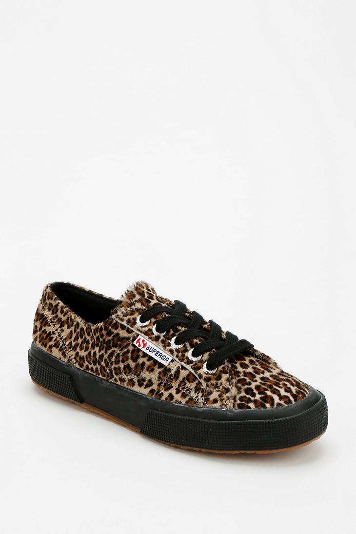 urban outfitters superga leopard print calf hair sneaker lyst. Black Bedroom Furniture Sets. Home Design Ideas