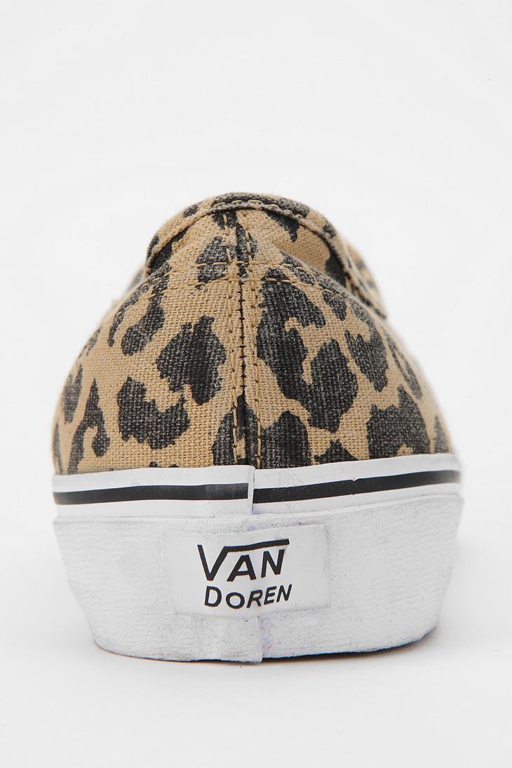 leopard print slip on vans