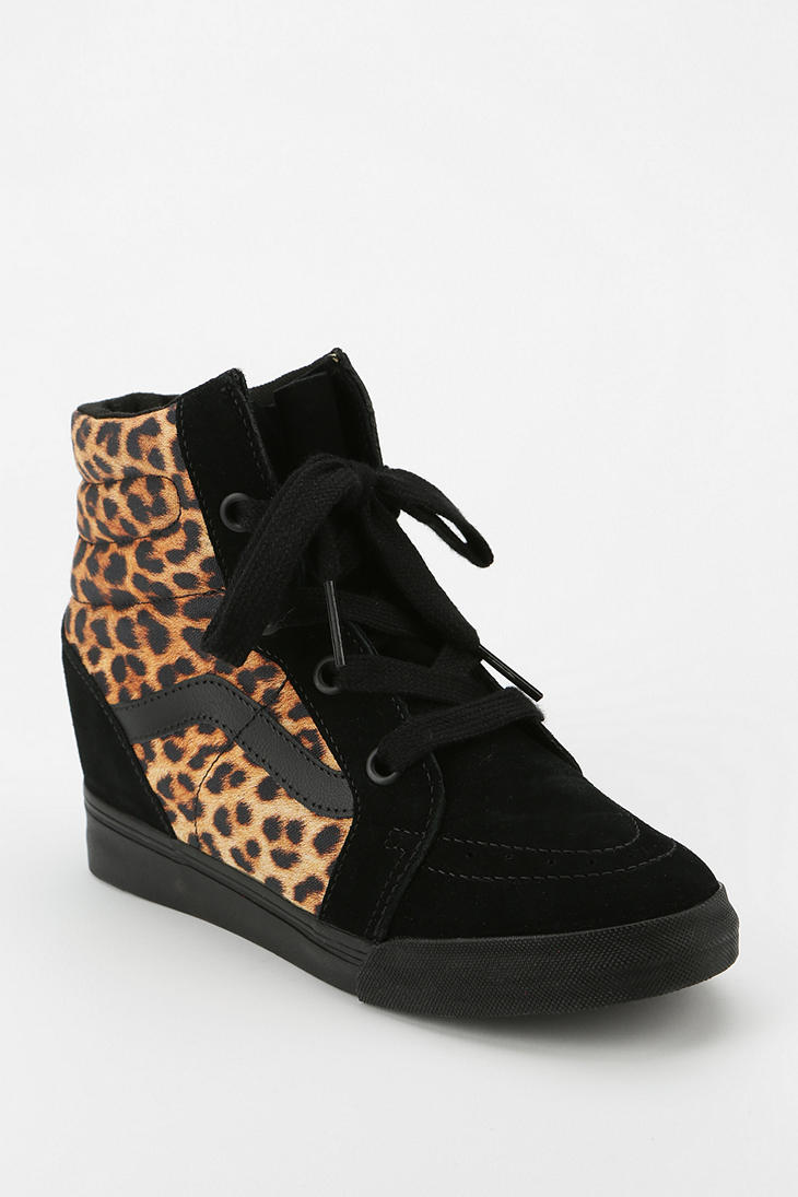 e5f128985ad74d Lyst - Urban Outfitters Vans Sk8 Animal Print Hidden Wedge Womens ...