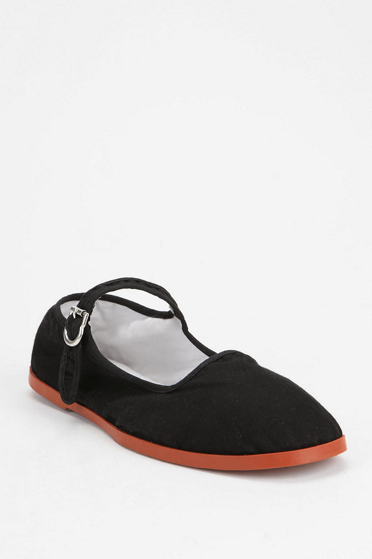Urban Outfitters Overdyed Cotton Mary Jane In Black Lyst