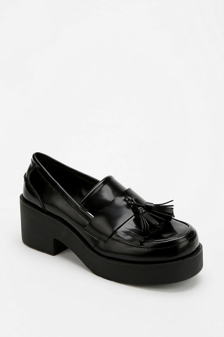 Urban Outfitters Shellys London Tassel Platform Loafer In