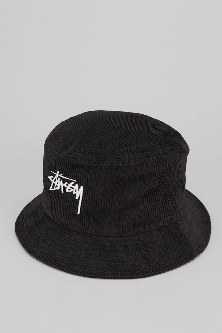 Lyst - Urban Outfitters Stussy Cord Bucket Hat in Black for Men 72c2120890c