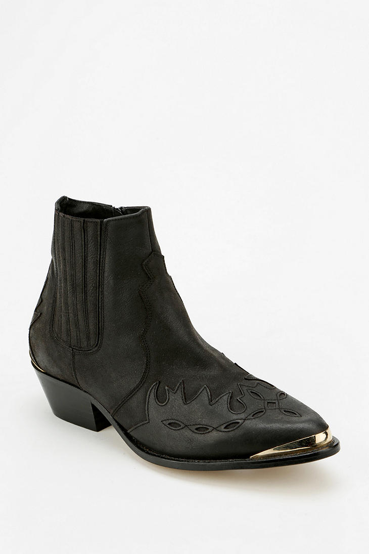 Urban outfitters To Be Announced Western Ankle Boot in Black | Lyst