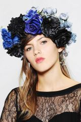 Urban Outfitters Stormy Weather Flower Crown Headwrap - Lyst