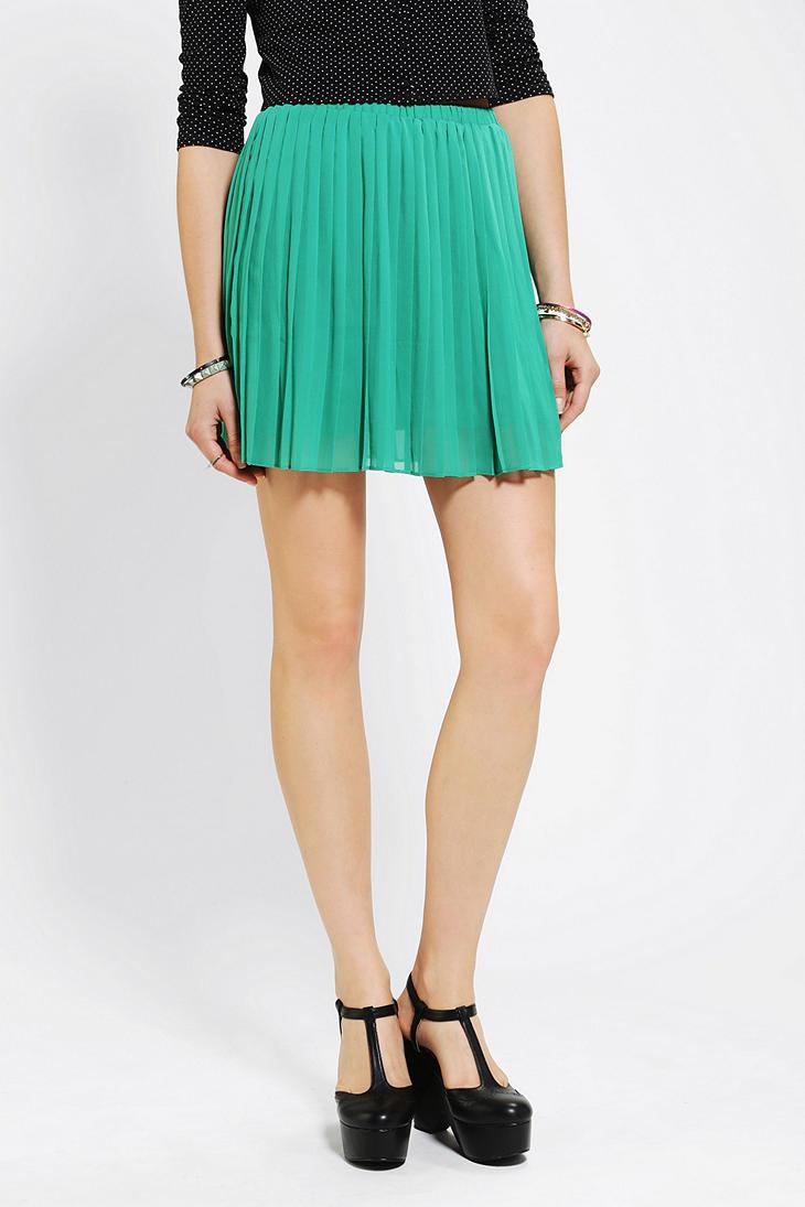 outfitters sparkle fade pleated chiffon mini skirt