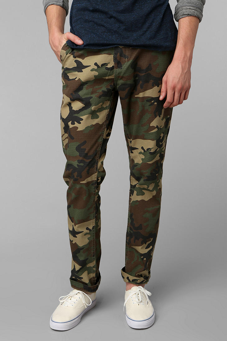 urban outfitters obey recon field camo pant in green for