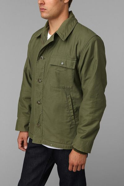 Urban Outfitters Vintage A2 Deck Jacket In Green For Men | Lyst