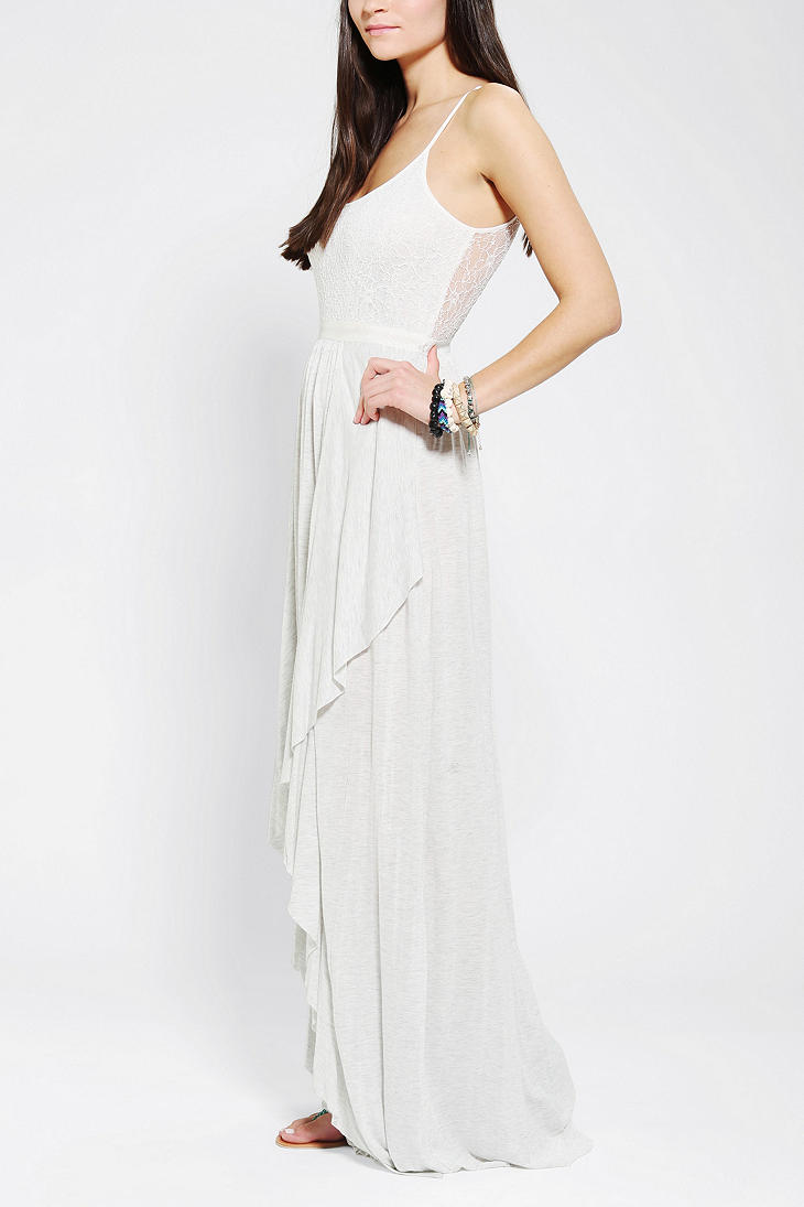 f749934cdd Lyst - Urban Outfitters Willow Lace Top Maxi Dress in White