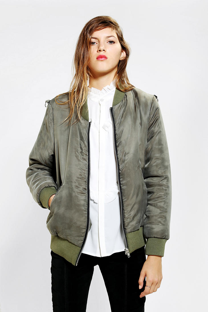 50972bed Urban Outfitters Little White Lies Ding Bomber Jacket in Natural - Lyst