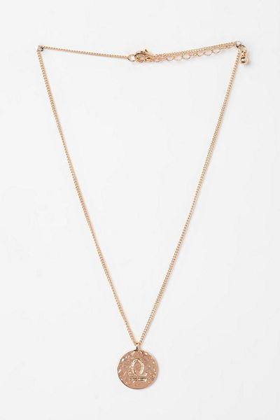 Urban Outfitters Rhinestone Zodiac Necklace in Gold (LIBRA) | Lyst