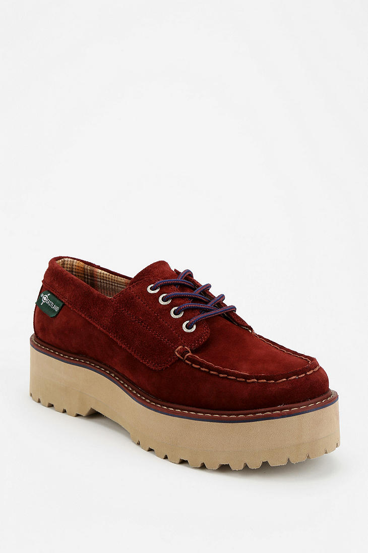 Urban Outfitters Eastland X Uo Platform Deck Shoe In Red
