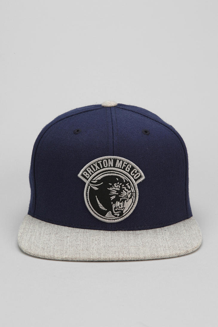 Lyst Urban Outfitters Brixton Growler Snapback Hat In