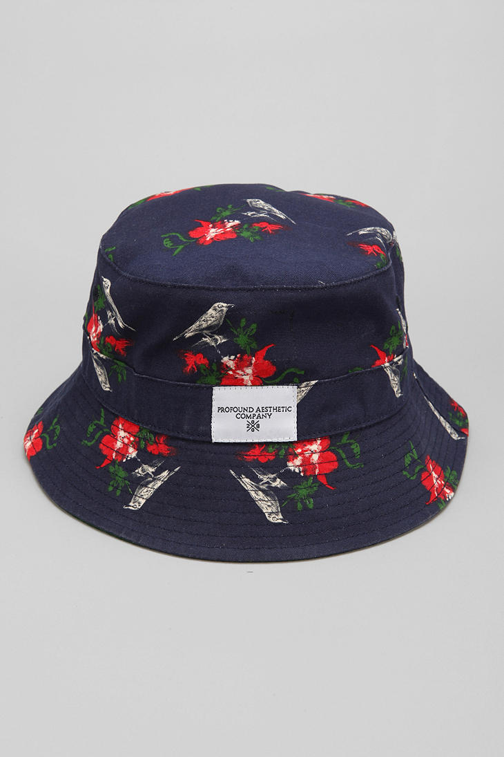 Lyst - Urban Outfitters Profound Aesthetic Birds Bucket Hat in Blue ... c3c9988657b