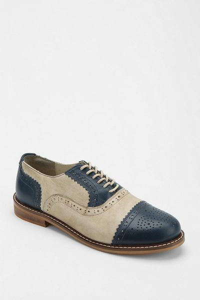 Urban Outfitters Cooperative Captoe Brogue Oxford in Beige ...
