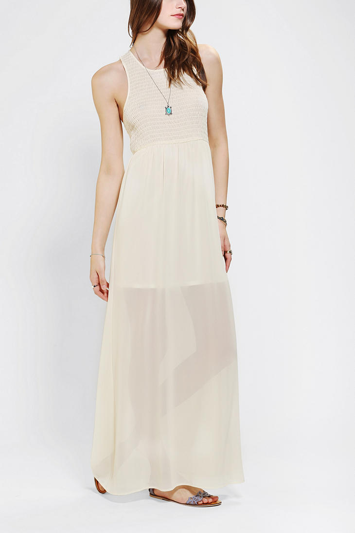 7b298d031ee77 Urban Outfitters Staring At Stars Smocked Chiffon Maxi Dress in ...