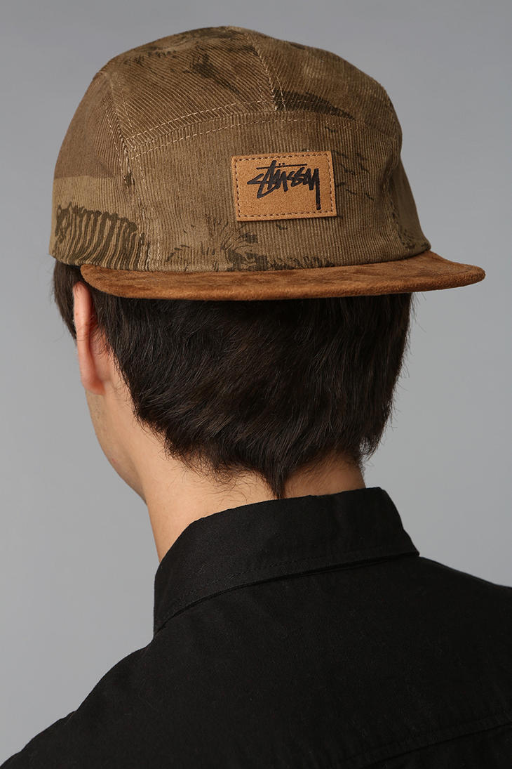 3fea1d7fd49 Lyst - Urban Outfitters Stussy Savannah Corduroy 5panel Hat in Green ...