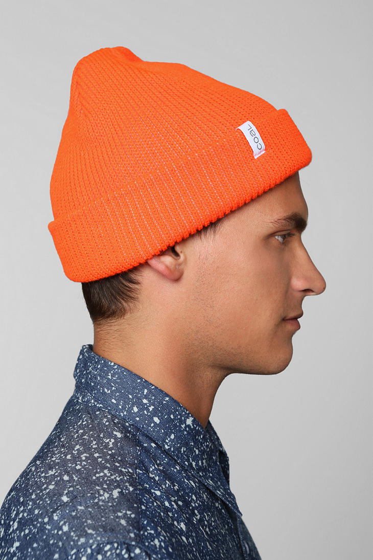 Lyst - Urban Outfitters Coal The Frena Classic Beanie in Orange for Men 2f9dafb4b01