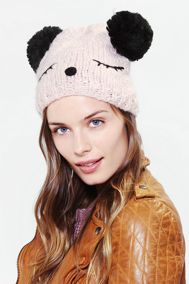 9d1b229f Urban Outfitters Animal Ears Beanie in Pink - Lyst