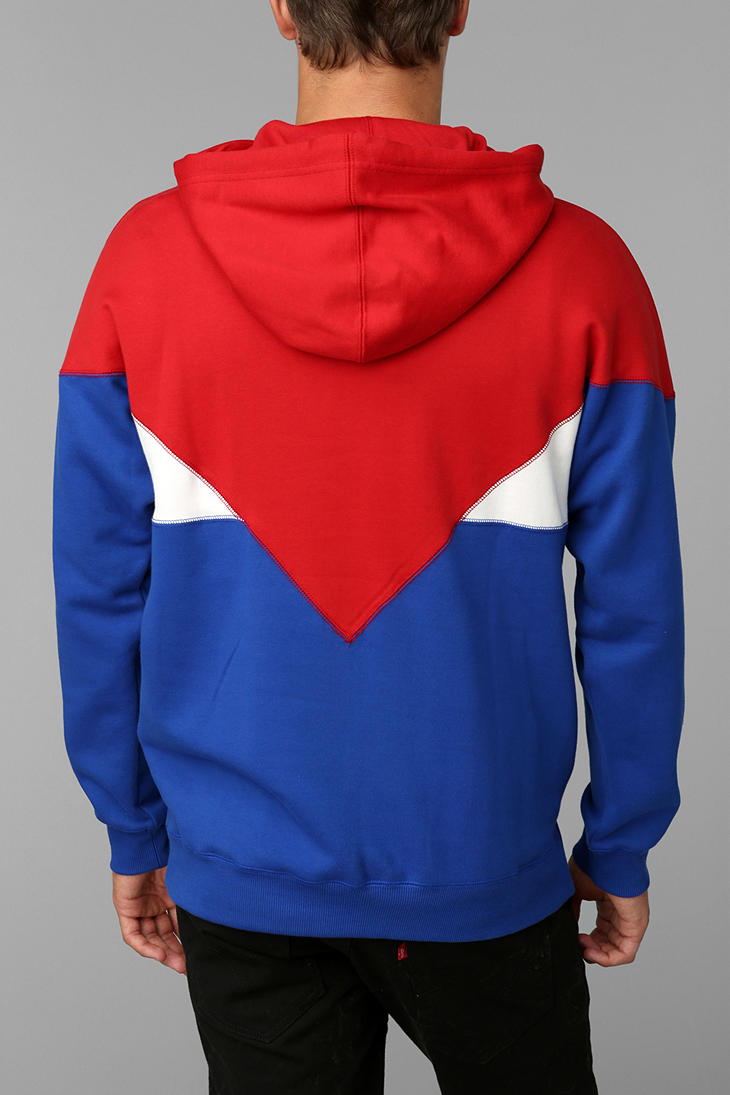 lyst urban outfitters adidas colorblock halfzip pullover